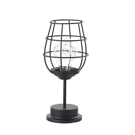 Botella de vino de hierro retro arte minimalismo lámpara de ...