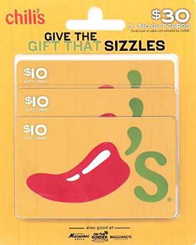 Chili's Gift Cards, Multipack of 3 - $10