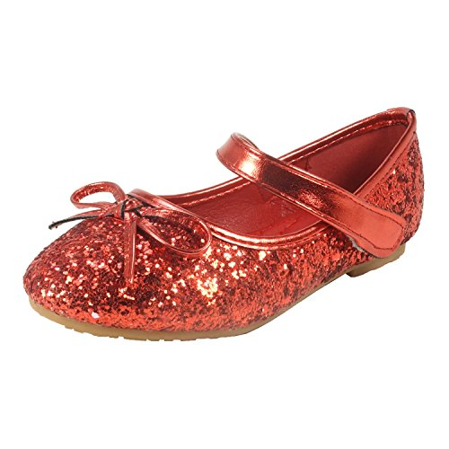 Nova Utopia Toddler Little Girls Ballet Flat Shoes,NF Utopia Girl NFGF312N Red (Red Mary Janes For Girls)