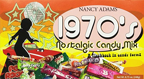 1970's Retro Candy Gift Box-Decade Box Gift Basket - Classic 70's Candy, net Wt. 8.75 oz.(248g) (Retro Candy Box)