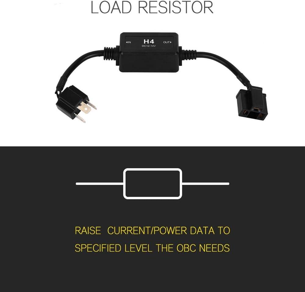 Auxbeam H4 9003 HB2 P43T LED Headlight Canbus Decoder Error Free Anti Flicker Wiring Harness Adapter