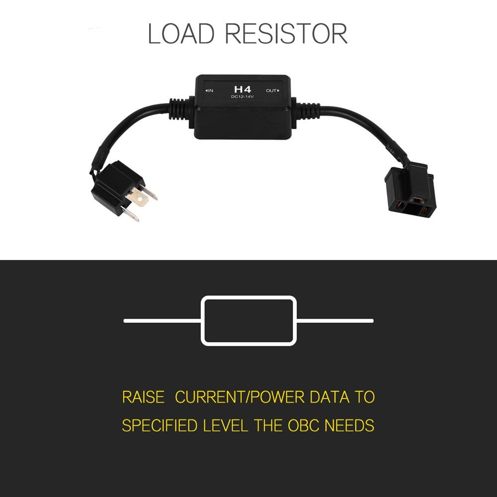 Auxbeam H4 9003 Hb2 P43t Led Headlight Canbus Decoder Installing Load Resistor Wiring Harness In A Bmw Error Free Anti Flicker Adapter Automotive