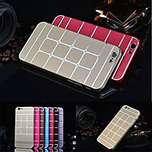SOL Luxury Metal Aluminum Brushed Grid Case for iPhone 6 (Assorted Colors) , Golden
