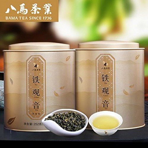 Eight horses tea Bama tea Anxi Tie Guan Yin Oolong tea fragrance 252g 2八马茶业清香 by Yichang Yaxian Food LTD.