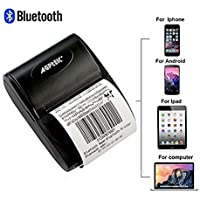 AGPtEK® 58mm Mini Bluetooth/USB Pocket POS Thermal Receipt Printer for Android IOS (Drive Software Needed),Could Power by Rechargeable Battery
