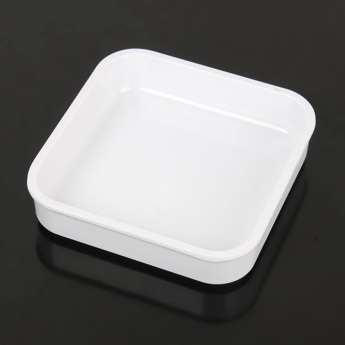 Amazon.com: Placas de salada DealMux Praça bandeja plástica Dish Pot placa branca: Kitchen & Dining