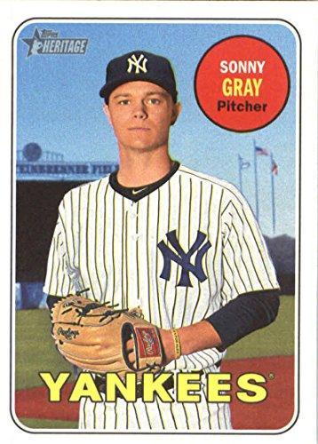 2018 Topps Heritage #177 Sonny Gray New York Yankees Baseball Card