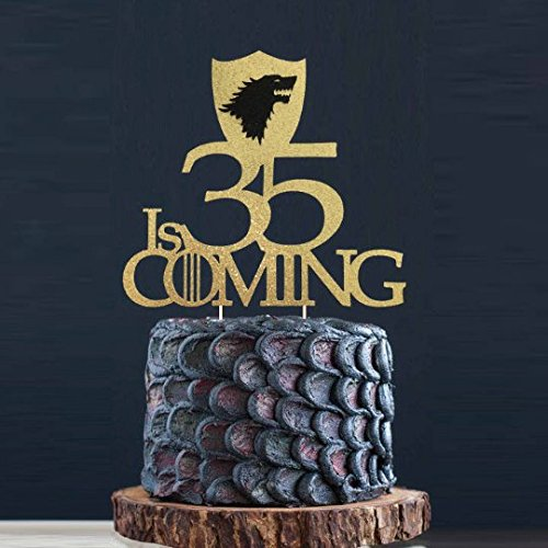 50 45 40 35 30 21 20 Is Coming Cake Topper Game Of Thrones Birthday Winter GOT Party Toppers Fans