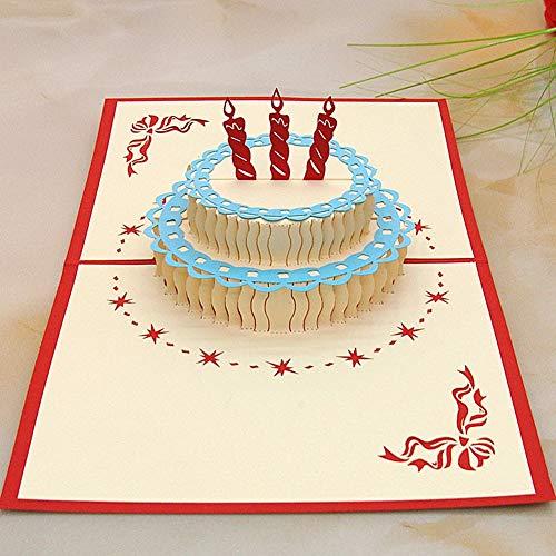 - Cards & Invitations - Holiday Fesitival Card 3d Postcard Cake Shaped Happy Good Gift Children Shipping - Card Birthday Card 1 Garland Birthday Banner 3d Birthday Set Balloon Decor Birth