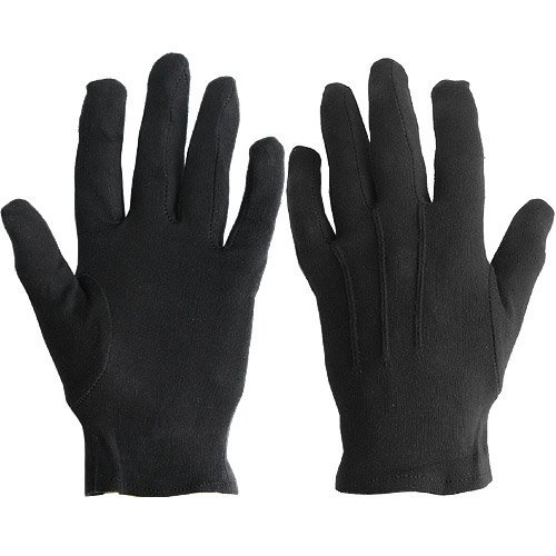 White Plus Gloves (White or Black Cotton Gloves-sold By Dozen Pair- (Sm,)