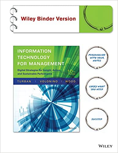 Amazon com: Information Technology for Management, Binder