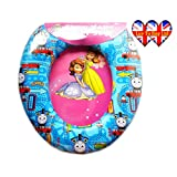 Child's Soft Cushioned Toilet seat (With cartoon characters) (Training Seat) (portable potty) (Thomas the Tank Engine)