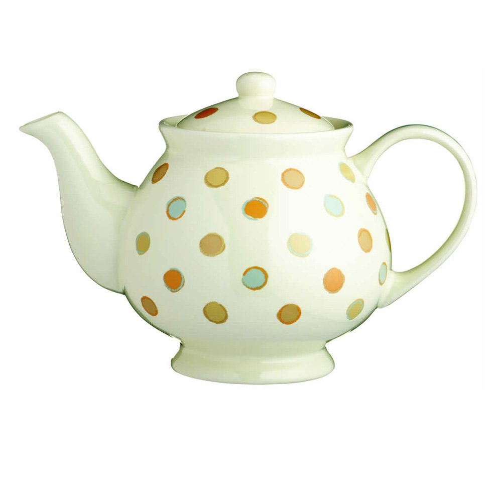 KitchenCraft Classic Collection 6-Cup Ceramic Vintage-Style Teapot, 1.4 L (2.5 pts) – Cream 1.4 L (2.5 pts) - Cream KCCCTEAPOT