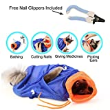 Laugh Cat Grooming Bag Adjustable Multifunctional Cat Washing Shower Mesh Bags For Pet Bathing Nail Care W/ Gift