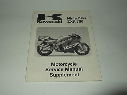 Service manual Supplement Kawasaki Ninja ZX-7 - ZxR 750 1990 ...