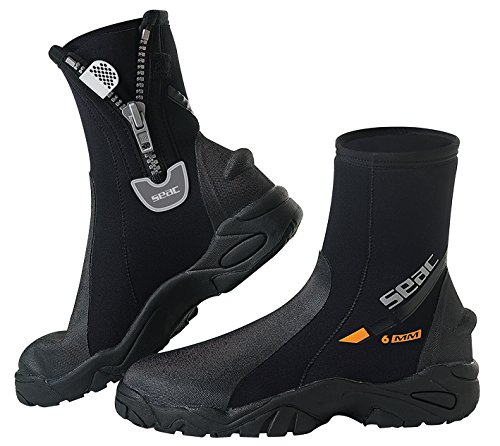 SEAC Pro HD 6mm Neoprene Wetsuit Boots with Side Zipper, XX-Large