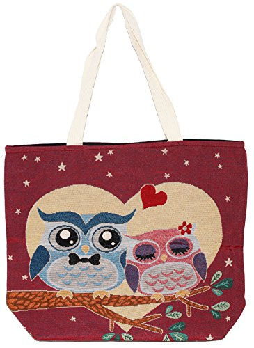 Tote Bohemian Hippie Handle Top Owl Size Shoulder Bag Big O203 Handbag cZp6qdA1W