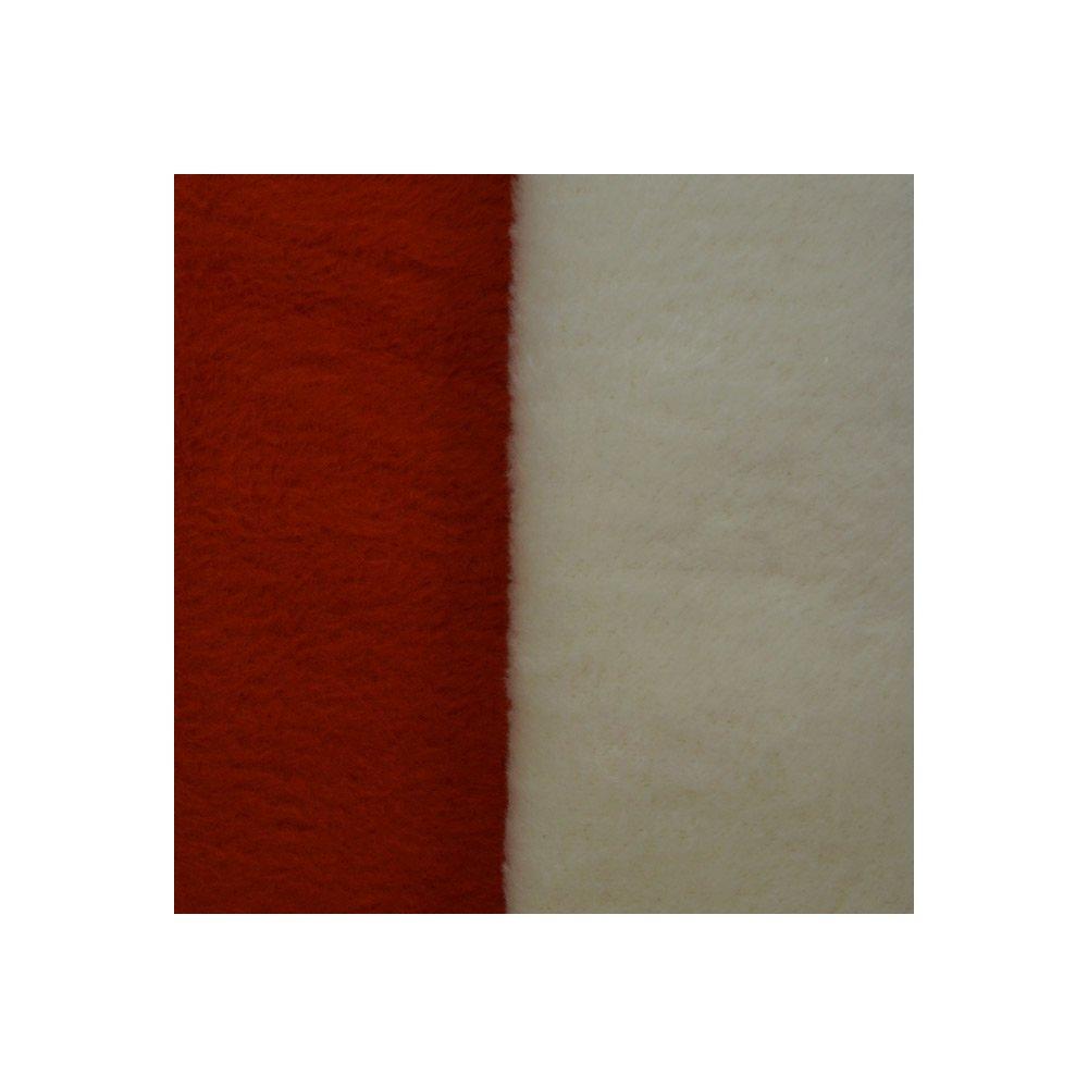 Richter Textilien Decke Doubleface 150 x 200 cm Bio-Baumwolle Orange Natur