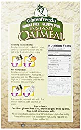 Glutenfreeda\'s Instant Oatmeal,  Apple Cinnamon, 8-Count Packets (Pack of 8) (Packaging may vary)