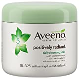 Aveeno Positively Radiant Cleanser Aveeno Positively Radiant Exfoliating Daily Cleansing Pads, 28 Count, (Pack of 3)