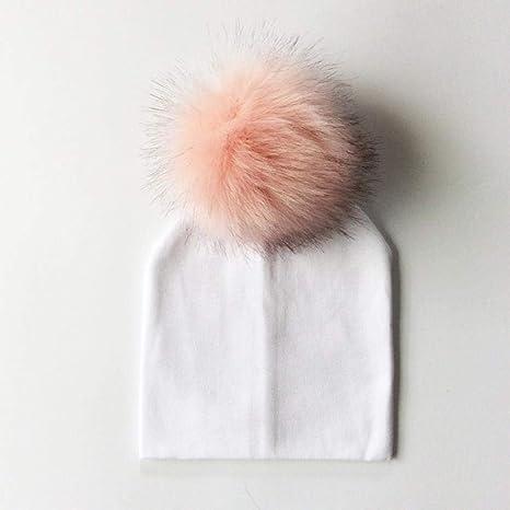 LMKAZQ Sombrero para bebé Accesorios para fotografía para recién Nacidos Sombrero de Bola de algodón para niños Gorro de Invierno Sombrero para niña y niño, Blanco, 0-6 Meses: Amazon.es: Deportes y aire