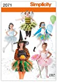 Simplicity Sewing Pattern 2071: Child's and Girl's Costumes, K5 (7-8-10-12-14)