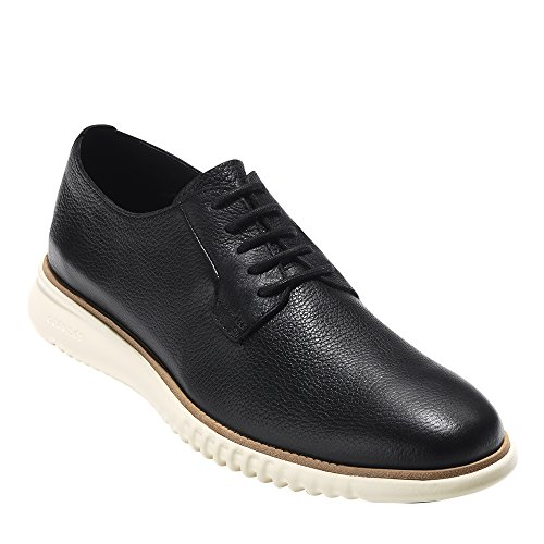 Cole Haan Mens 2 Zerogrand Plain Toe Oxford Black Leather-ivory vK7yKnOh