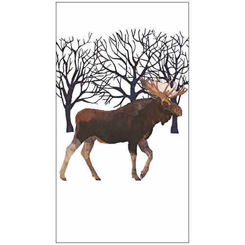 "Paperproducts Design Luxury Guest/Hand Towels (Set of 15), 5"" x 7"", Multicolor, Winter Moose"