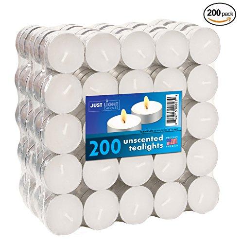Just Light Candles Bulk Tea Lights - Unscented Whi big image