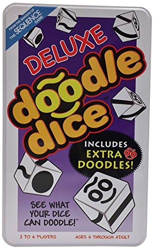 Jax Doodle Dice Tin Family Board-Game (Doodle Dice)