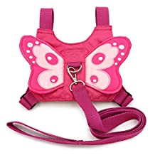 Hipiwe Baby Anti-lost Butterfly Walking Safety Harness Walking Belt Backpack Style Reins Toddler Leash Child Kid Strap