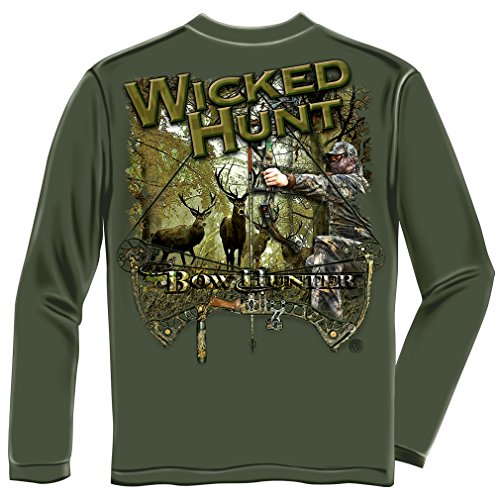 Deer Hunting Clothing, 100% Cotton Casual Men's Long Sleeved Shirts, Show Your Love of Deer Hunting with our Unisex Bow Hunting Shirt for Men or Women (Medium)