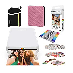 Polaroid Zip Wireless Mobile Photo Mini Printer (White) Compatible w/iOS & Android, NFC & Bluetooth Devices with Bundle Accessories