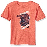 Lucky Brand Boys' Big Short Sleeve USA Eagle Tee Holly Red, Medium (10/12)