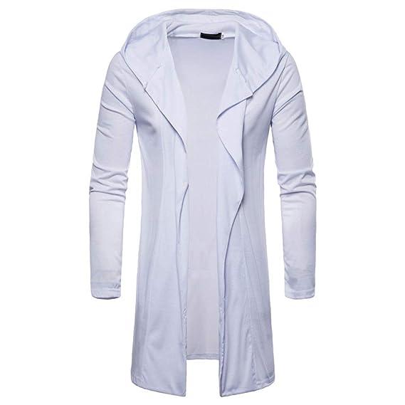 Abrigos Hombre Moda Hombres con Capucha Trinchera sólida Chaqueta de Abrigo Cardigan Manga Larga Outwear Blusa: Amazon.es: Ropa y accesorios