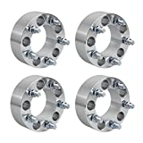 "RACPLUS 4pcs 2"" 5x4.5 to 5 x 4.5 (5x114.3)Wheel Spacers Adapters 1/2"" x 20 Studs for Ford Jeep Liberty Wrangler Cherokee Grand Cherokee Mercury Cougar Mountaineer Lincoln Aviator(US Shipping)"
