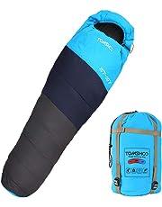 TOMSHOO Saco de Dormir Encapuchado Grueso Térmico para Adultos para Acampar, Excursionismo, Viajes,
