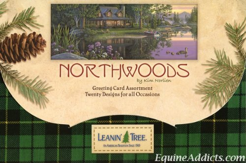 (Northwoods by Kim Norlien - Leanin' Tree Greeting Card Assortment - 20 cards with full-color interiors and 22 designed envelopes)