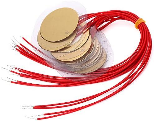 10pcs 20mm Piezo Elements Buzzer Sounder Sensor Trigger Drum Disc wire copperHG
