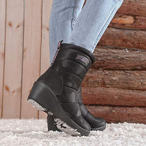 Black Chaudes Antidérapantes Neige Dames De L'extérieur Sport Bottes Chaussures Pour noir TvgOcWBW