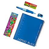 Left-Handed 5 Piece Upper Elementary School Notebook Set with Stabilo Mechanical Pencil Blue