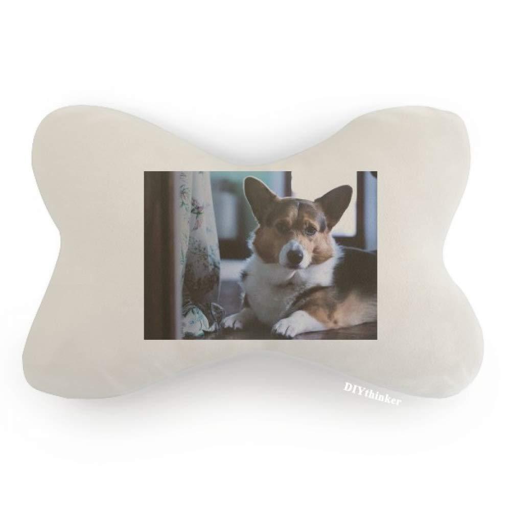 DIYthinker Corgi Dog Pet Animal Lonely Picture Car Neck Pillow Headrest Support Cushion Pad