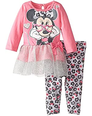 Baby Girls' Minnie Mouse Legging Set with Tulle, Glasses