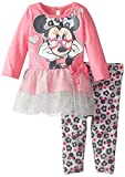 Disney Baby Girls Minnie Mouse Legging Set with Tulle-Glasses, Pink, 3-6 Months