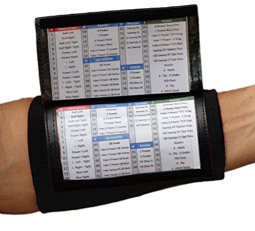 SteelLocker Sports X200 Adult Playbook Wristband - Black