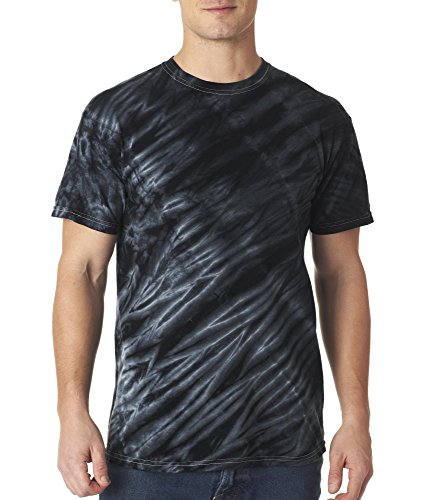 - Gildan Tie-Dye Adult Tiger Stripe Tee - Black - 3XL