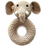 Cheengoo Organic Crocheted Elephant Ring Rattle