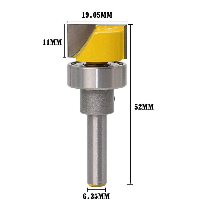HOEN 1//10,2/cm Schaft 3//10,2/cm W x 7//40,6/cm H Flush Trim Scharnier Einsteckschloss Vorlage Router Mills Bit