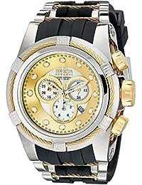 Invicta Men's 0828 Bolt Zeus Reserve Chronograph Mother-Of-Pearl Dial Black Polyurethane Watch