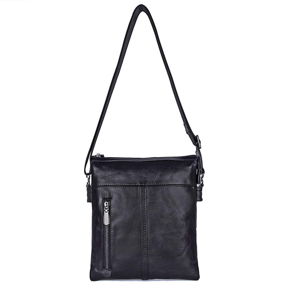 23cm X 3cm X 26.5cm Briefcase TLMYDD Shoulder Bag Casual Mens Bag Autumn New Single Shoulder Mens Bag Black